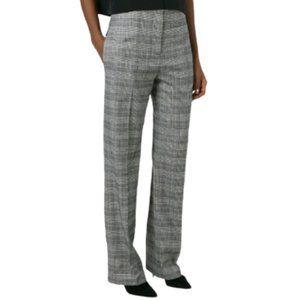 Alexander Wang Optic Plaid Trouser Pant Grey/White